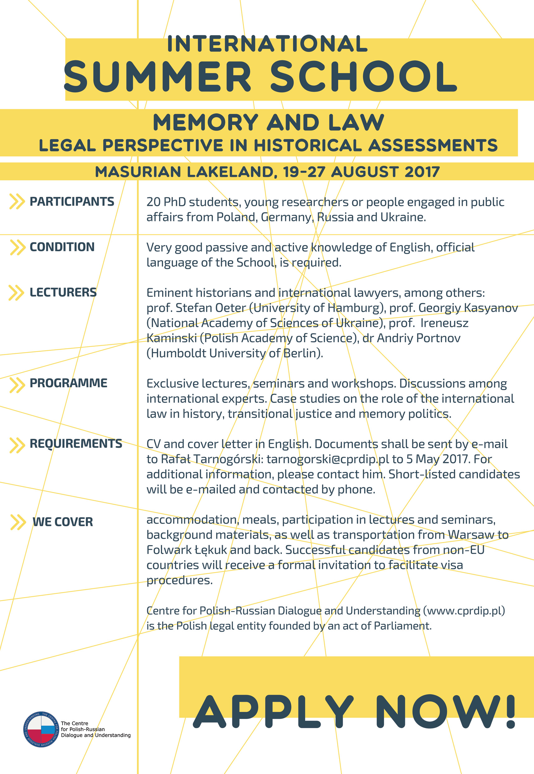 "International Summer School ""Memory and Law: Legal Perspective in ..."